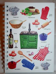 Cooking Theme  Hard Back Notebook Available in A5 or A6